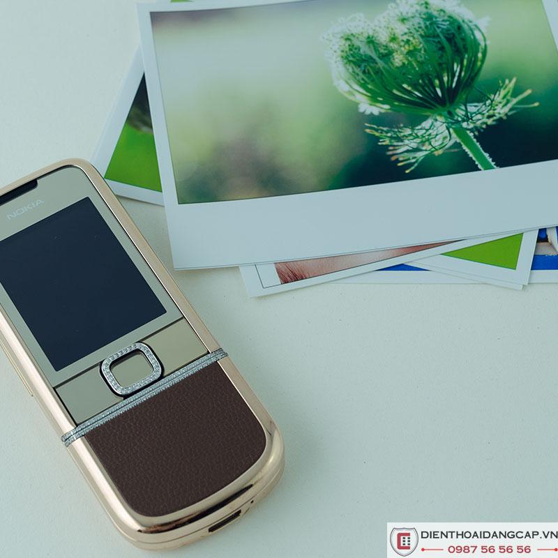 Nokia 8800 Vàng hồng nâu gold full đá