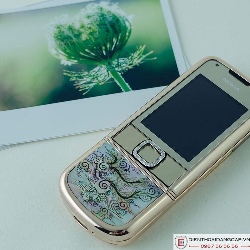 Nokia 8800 Vàng hồng long phụng đính đá