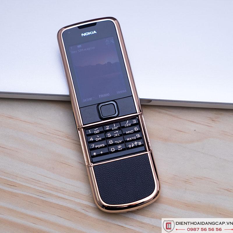 Nokia 8800 vàng hồng da đen