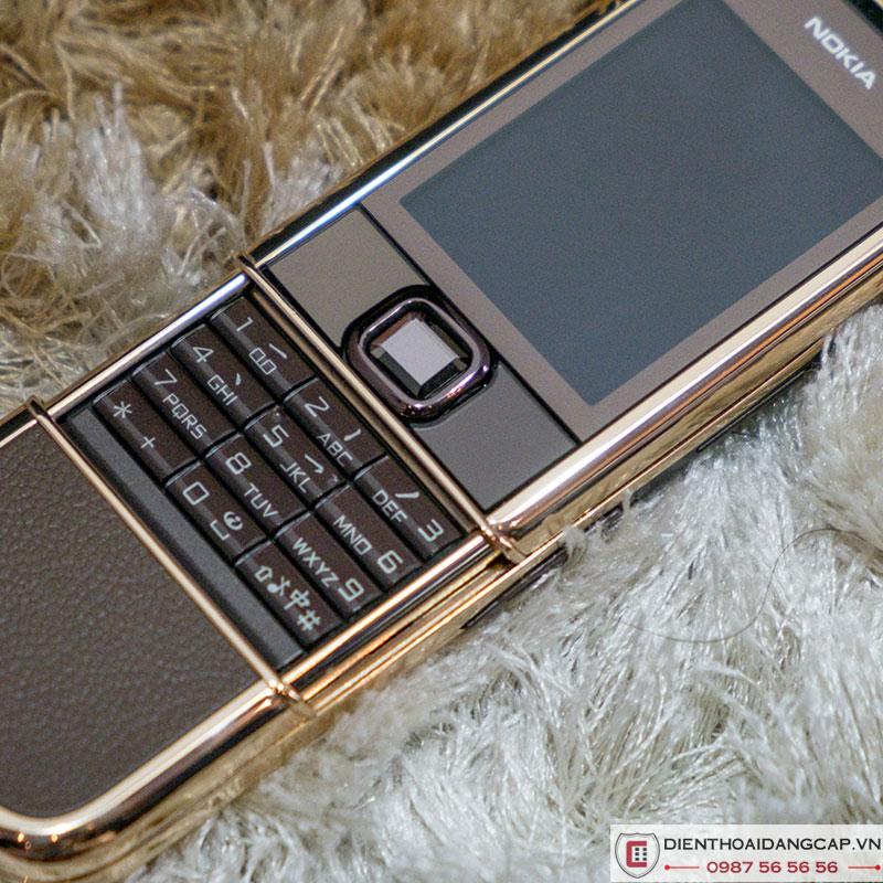 Nokia 8800A vàng hồng da nâu