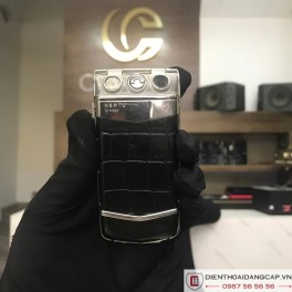 Vertu cũ Ayxta Black Alligator 05