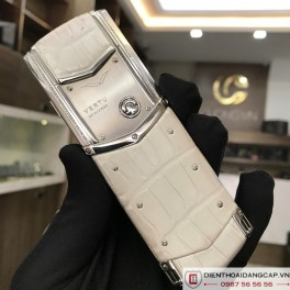 Vertu cũ Signature s white alligator 04