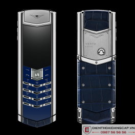 Vertu cũ  Signature S Navy Alligator 01
