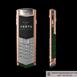 Vertu Mới Signature RED GOLD HANDSET HUNTER GREEN ALLIGATOR 2016 01