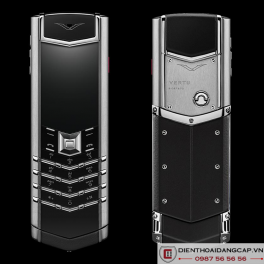 Vertu mới Signature STAINLESS STEEL BLACK LEATHER 2017 01