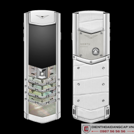 Vertu cũ Signature S White Mother Of Pearl 01