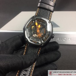 DIETRICH OT6 on Orange Stitching and Perforated Leather Strap  - 03
